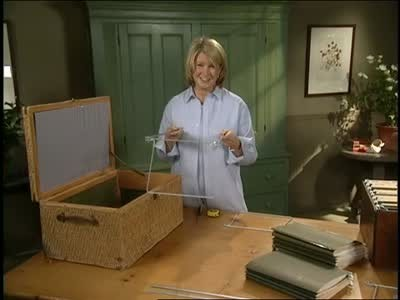 Video How To Transform Boxes Into Decorative File Cabinets Martha Enchanting Box Files Decorative