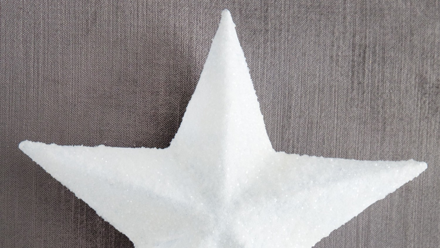 White Glittered Star Tree Topper