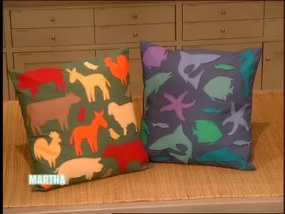 Video How To Make A Decorative Applique Pillow Part 40 Martha Stewart Gorgeous Martha Stewart Decorative Dog Pillows