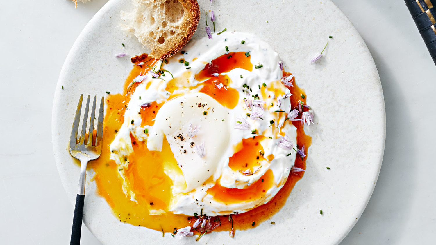 Poached Eggs With Yogurt And Spicy Butter