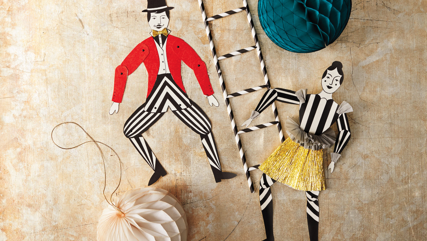 Circus Crafts Acrobats And Animals Martha Stewart
