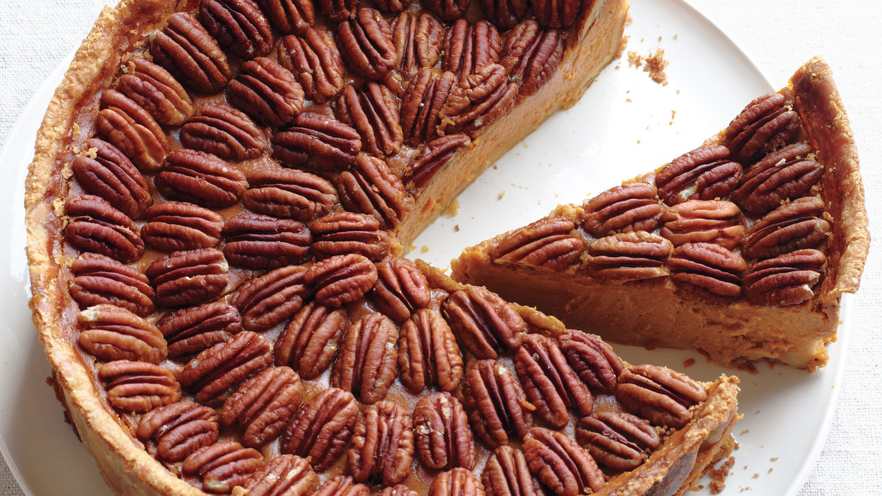 Mile High Pumpkin Pecan Pie