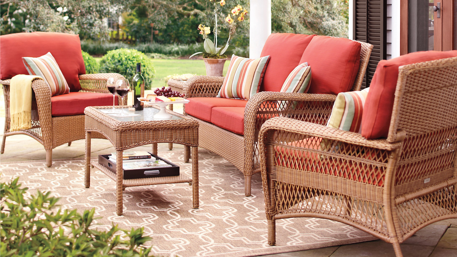 Looking to refresh your patio here are 3 looks to try for Martha stewart furniture