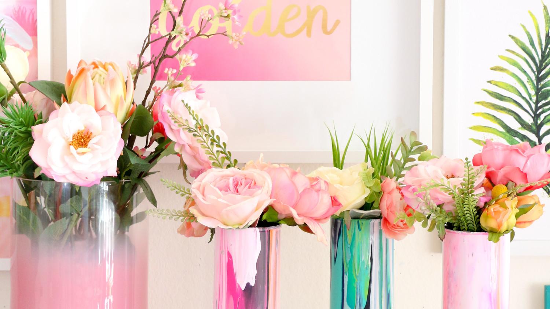 Martha Stewart & Marbleized Glass Flower Vase | Martha Stewart