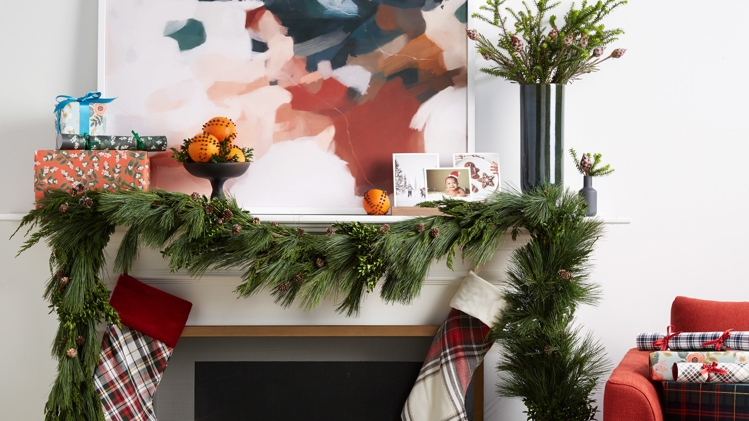 mantle decorations with painting pedestal bowl greens