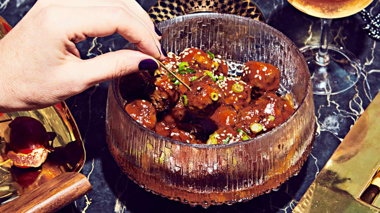 Sweet And Sour Korean Cocktail Meatballs