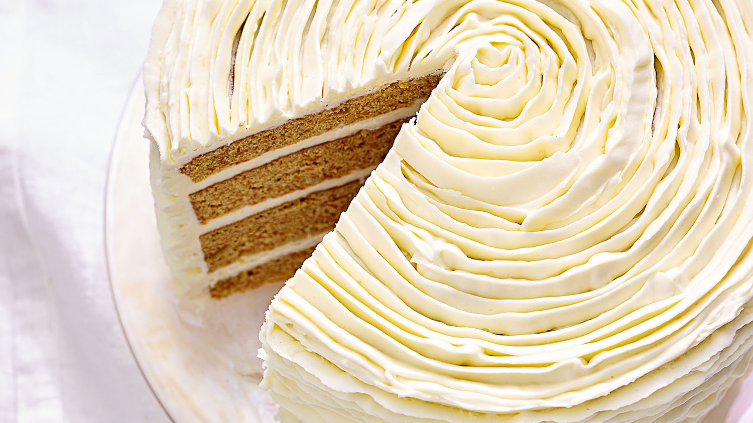 carrot cake with whitechocolate frosting