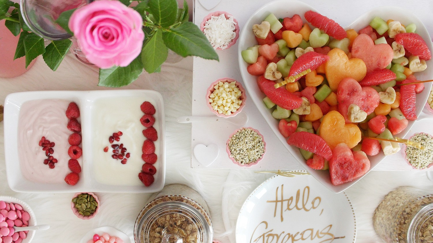 Galentine's Day parfait and paint party