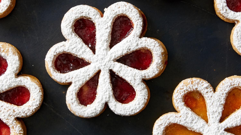 Linzer Flower Cookies
