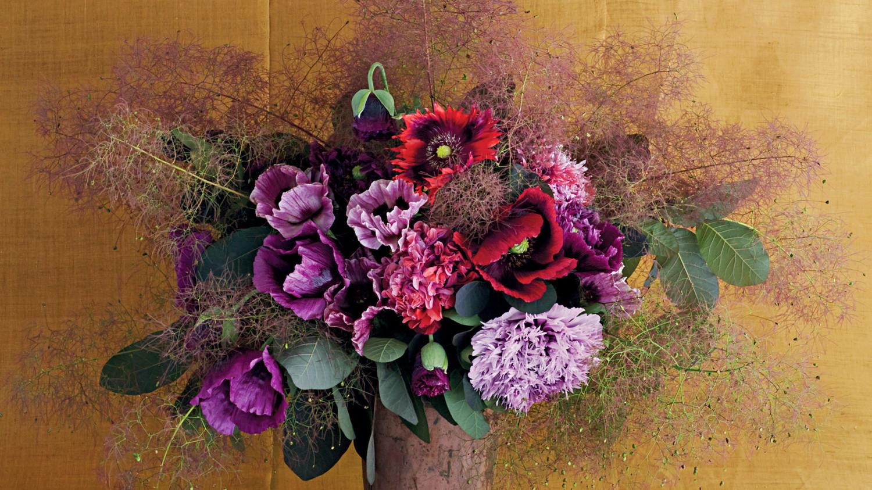 poppies arrangement