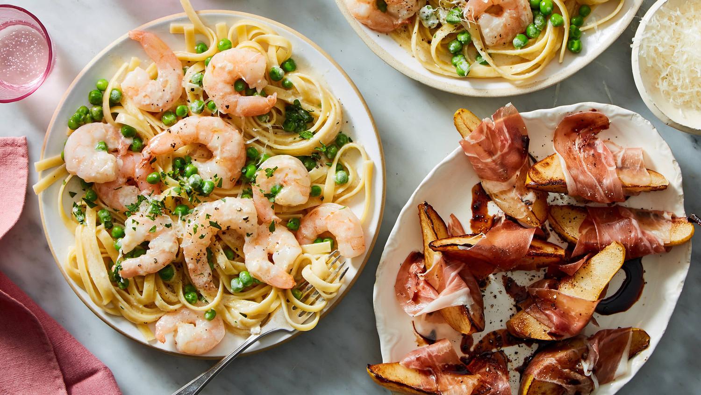 Martha & Marley Spoon Shrimp Alfredo Dinner for two