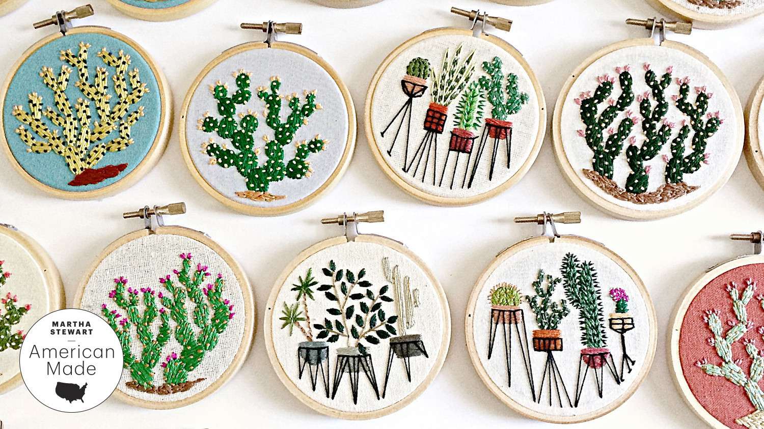 american made benning botanical embroidery