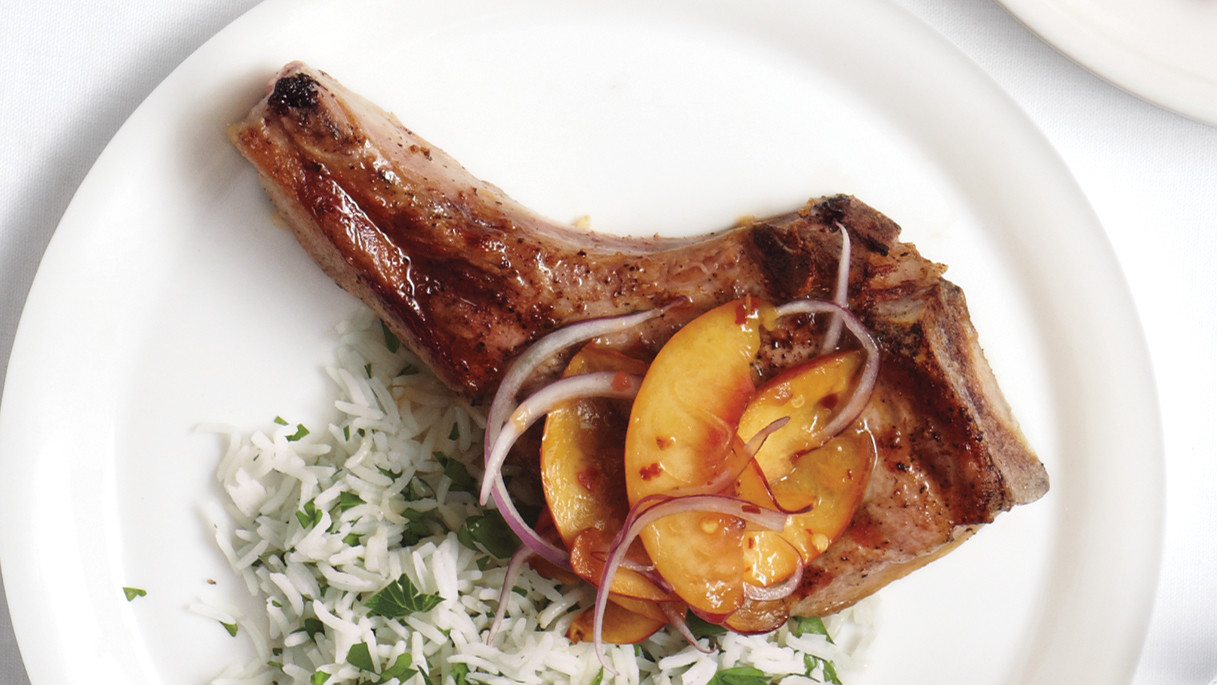 Martha stewart grilled pork chop recipe
