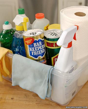 kitchen cleaning caddy  martha stewart