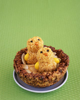 Crunchy Critters made out of cornflakes and marshmallows