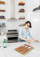 joy the baker open shelf kitchen sprinkling cookies