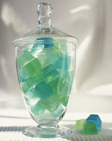 soap cube in glass container