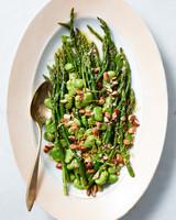 asparagus nut lima bean