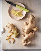 fresh ginger sliced