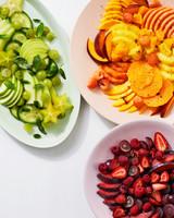 fruit salads red orange green