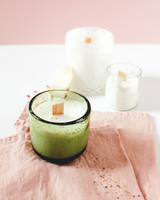 diy tea scented candle