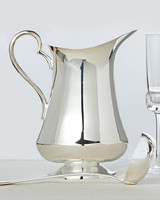 silver pitcher ladle