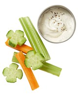 carrots celery cucumber dip