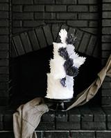 haunted movie house black brick fireplace with cake display