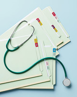 health checkups patient files stethoscope