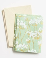 paper source stationary with green floral pattern