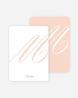 paper culture stationary white and salmon