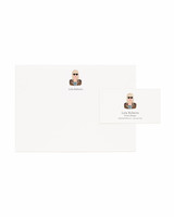 rifle paper co stationary with illustration of person