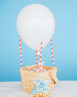 Up Up and Away DIY hot air balloon with goody bags