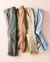 pants with trim applique