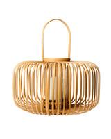cb2 natural lantern wooden