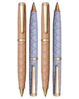 embossed leather ballpoint pens