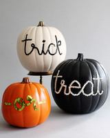 sequin letter pumpkins