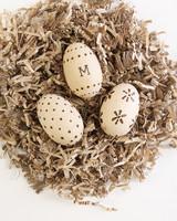 wood burning Easter eggs