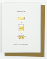 Foodie thank you cards by Nourishing Notes