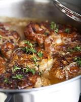 emerils braised chicken thighs