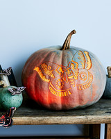 glowing moth pumpkin