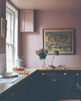 farrow and ball pink paint kitchen