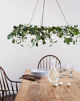 mistletoe chandelier