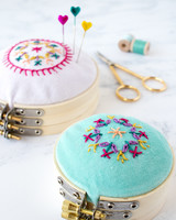 embroidery hoop pincushion