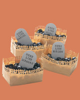 tombstone candy basket place cards