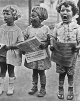 children singing easter hymns