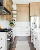 oak point kitchen raised cabinets