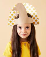 纸火鸡帽感恩节工艺