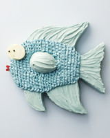 green fish sheet cake