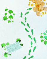 leprechaun footprints st patricks day craft